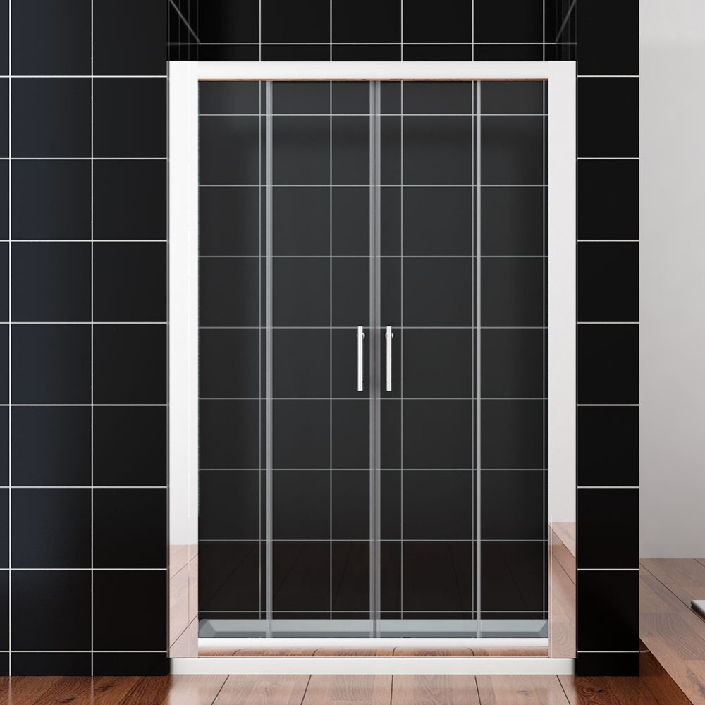 Bp04p4 tempered safety glass cheap used sliding shower for Cheap sliding glass doors