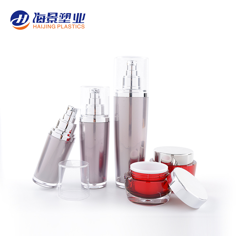 Luxury recycled plastic acrylic 30ml 50ml 100ml skin care packaging lotion pump bottle