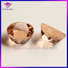 Champagne Irregular Shape Facetted Gemstone For World Cup Souvenirs Making