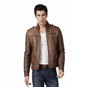 New Designs Fashion PU Short Mens Jackets Wholesale Cheap Men Pu Jacket