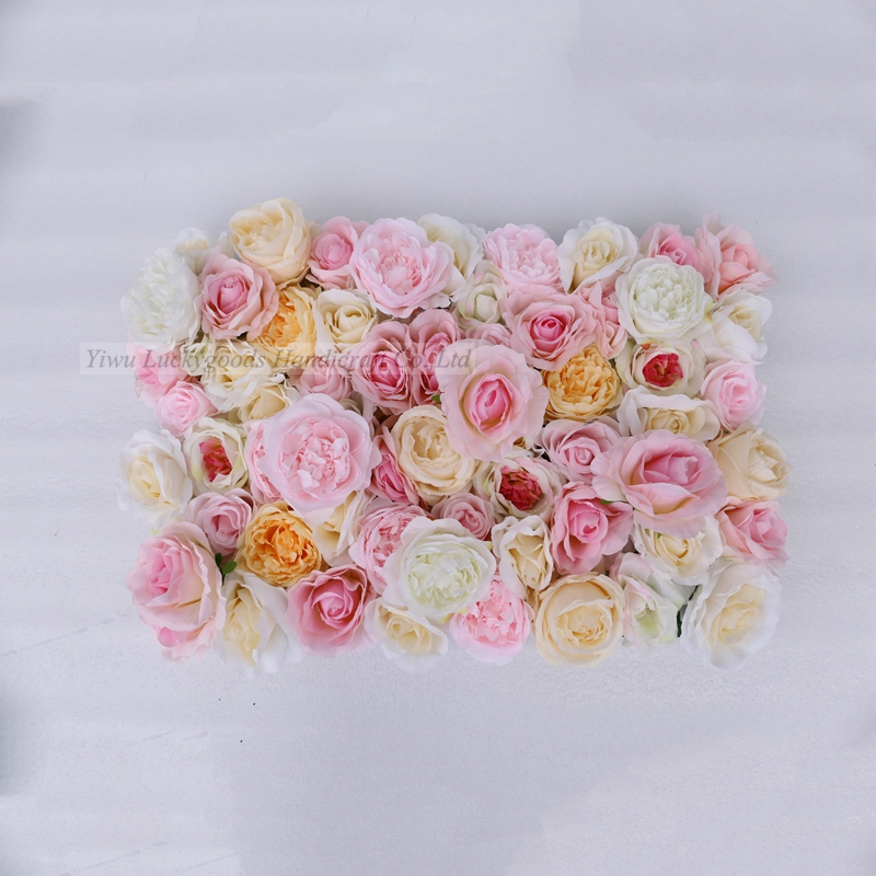 2019 luckygoods Newest LFB1186 background  artificial flower wall for wedding event decoration