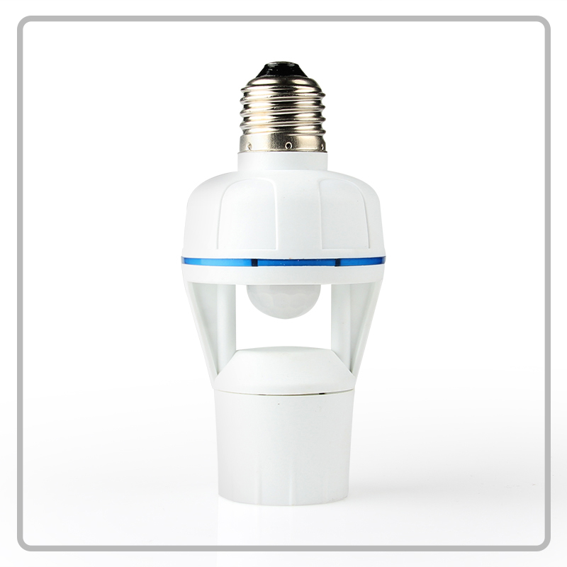 Energy saving lighting accessory 60W E27 PIR motion sensor lamp holder