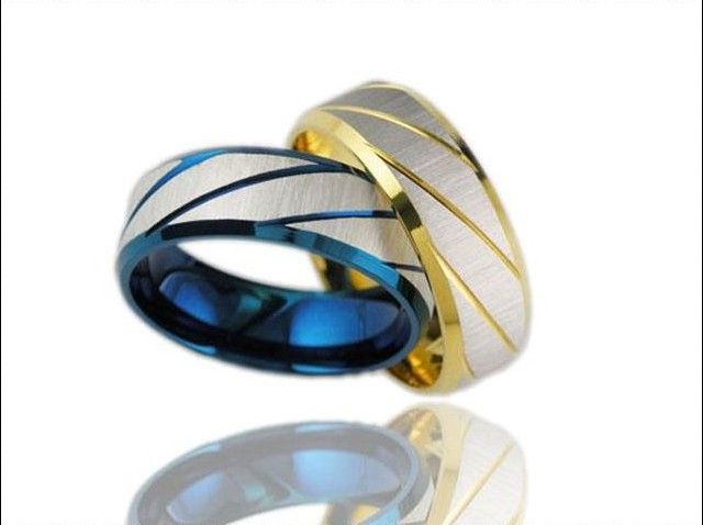 get quotations classic 316l stainless steel superman finger rings blue or gold mens titanium steel ornaments 1960 - Superman Wedding Ring
