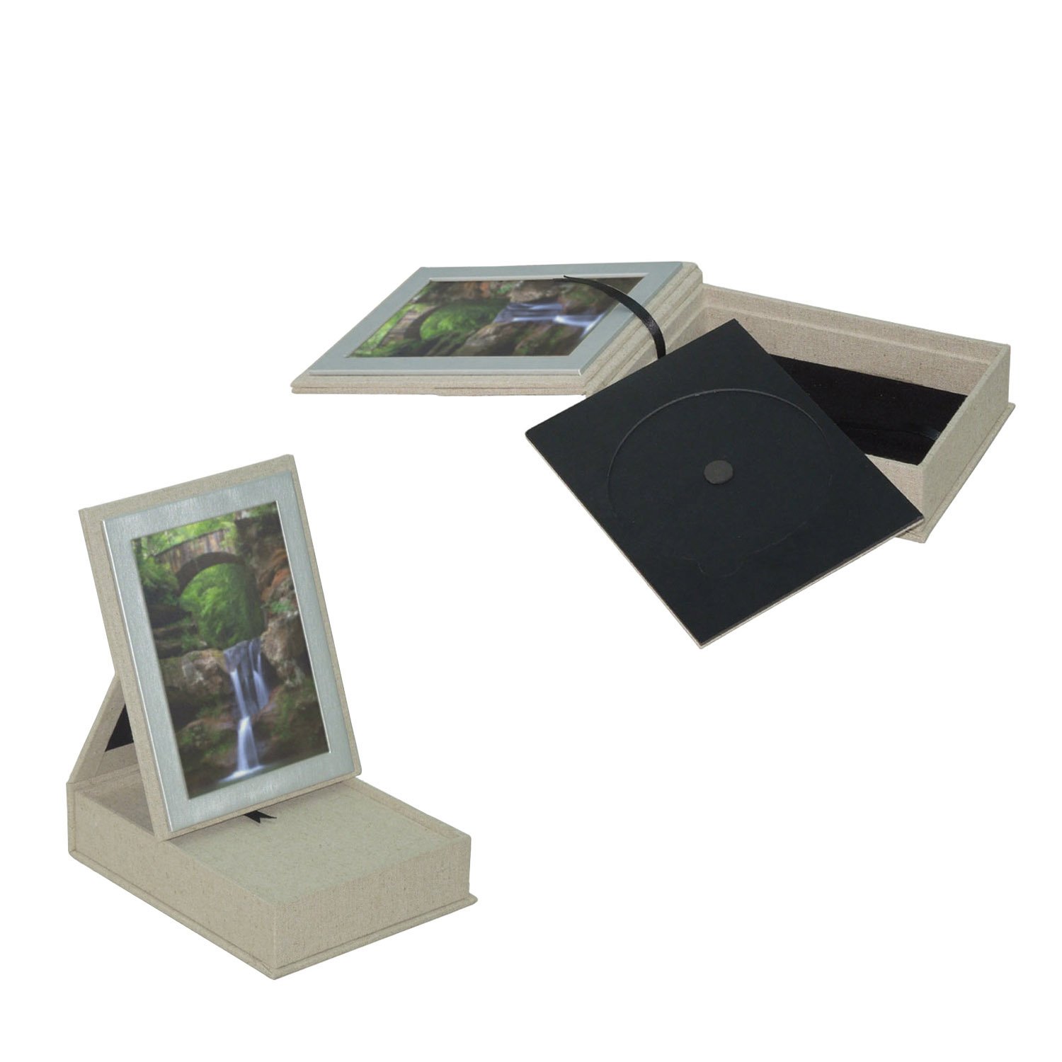 High quality artistic white wedding display photo album box