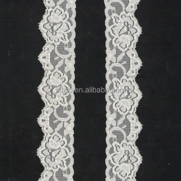 Hot selling discount custom white saree border stretch 4.2 wide lingerie triming lace
