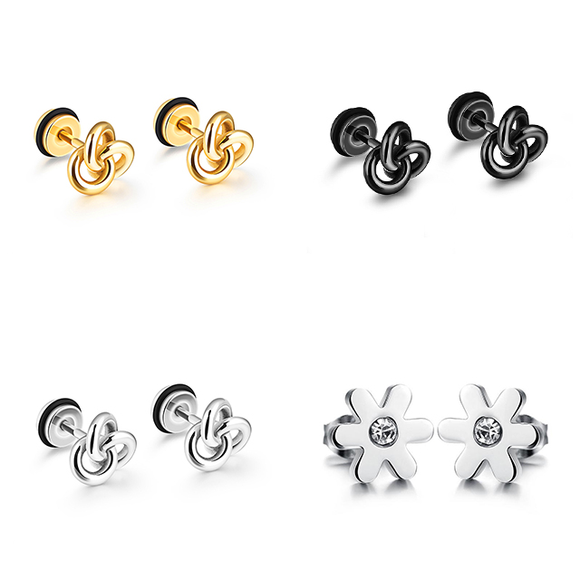 Latest new fashion wholesale stainless steel mens earring stud 2019 jewelry