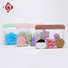 Chinese waterproof portable transparent pvc toiletry bag for beach