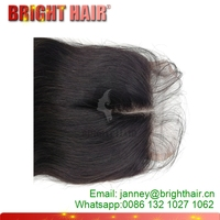 Cheap Price Brazilian Lace Closure With Baby Hair