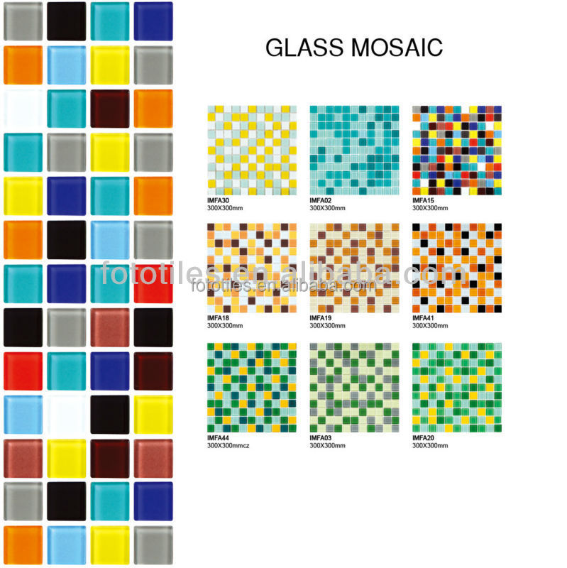 Pure color crystal glass turkish lamp mosaic tile