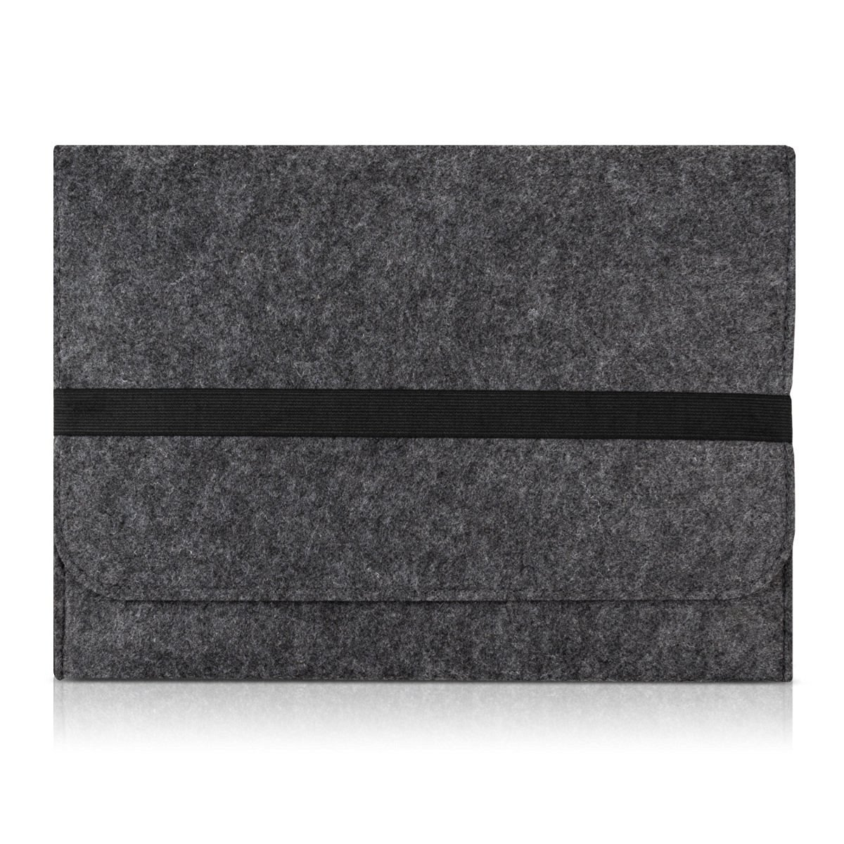 """kwmobile laptop cover felt case for 12,5"""" 13"""" 13,3"""" Laptop / Ultrabook - notebook bag protective cover in dark grey with internal pockets Inner dimensions: approx. 34,5 x 26 cm"""