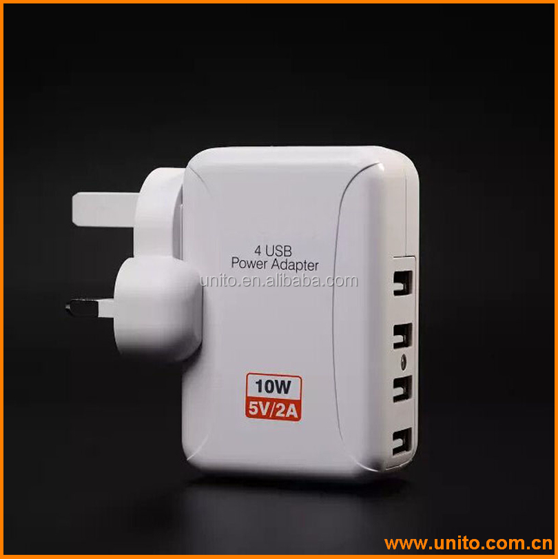 US plug 5V 2A 4 port usb wall charger for iphone for ipad for universal mobile phones