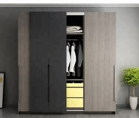Double color design wooden closet furniture bedroom wardrobes with dressing table NW01