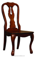 Dark walnut color 100% solid wood modern dining chair