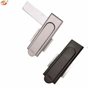 Flush Handle Electric Cabinet Machine Flat Key Lock for Panel Boards