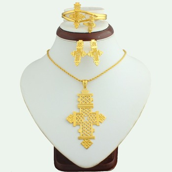 Saudi Arabian Jewelry Set Latest Design 18k Gold Plated Jewelry