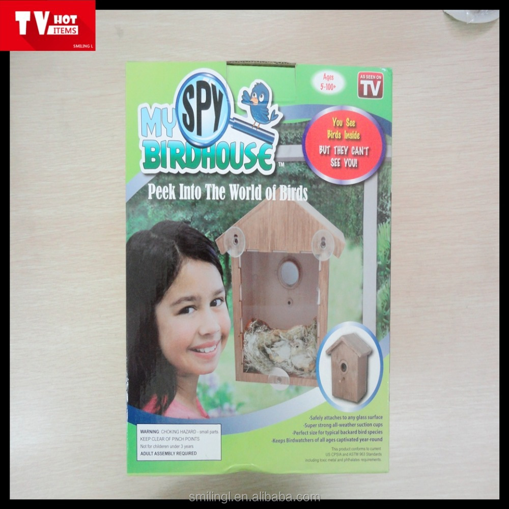 unfinished wooden birdhouse of tv products so funny see birds nesting happy bird house can be DIY painted