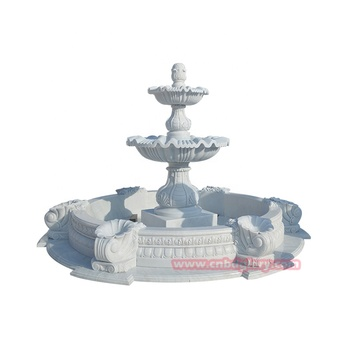 High Quality Outdoor Stone Garden Decor Sculpture Marble Water Fountain