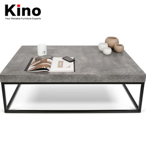 Stainless steel frame cement mesa table, coffee table