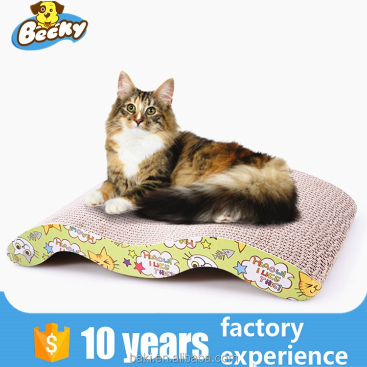Comfortable Scratch Post for Cats Corrugated Cardboard Cat Bed Sleeping Cat Toy