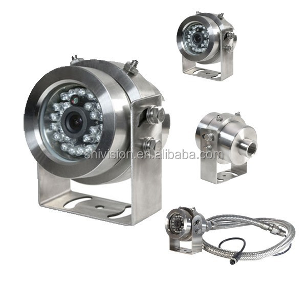 100% OEM ODM Waterproof Night Vision CCD 700tvl 304 Stainless Steel Explosion Proof Camera for Gas Station
