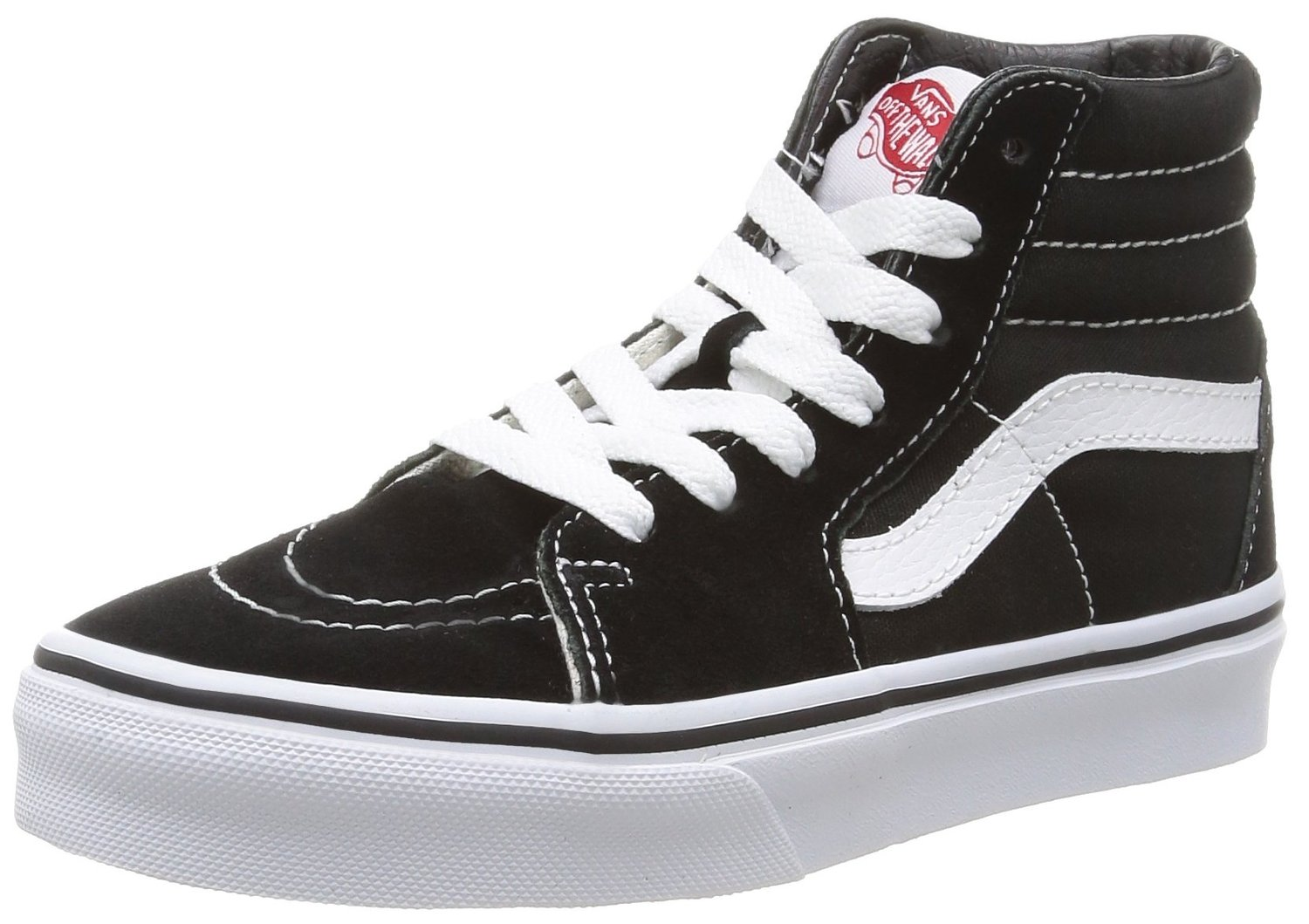 ac81b1b1fdebb7 Get Quotations · Vans Kid Shoes SK8-Hi Black White Sneakers