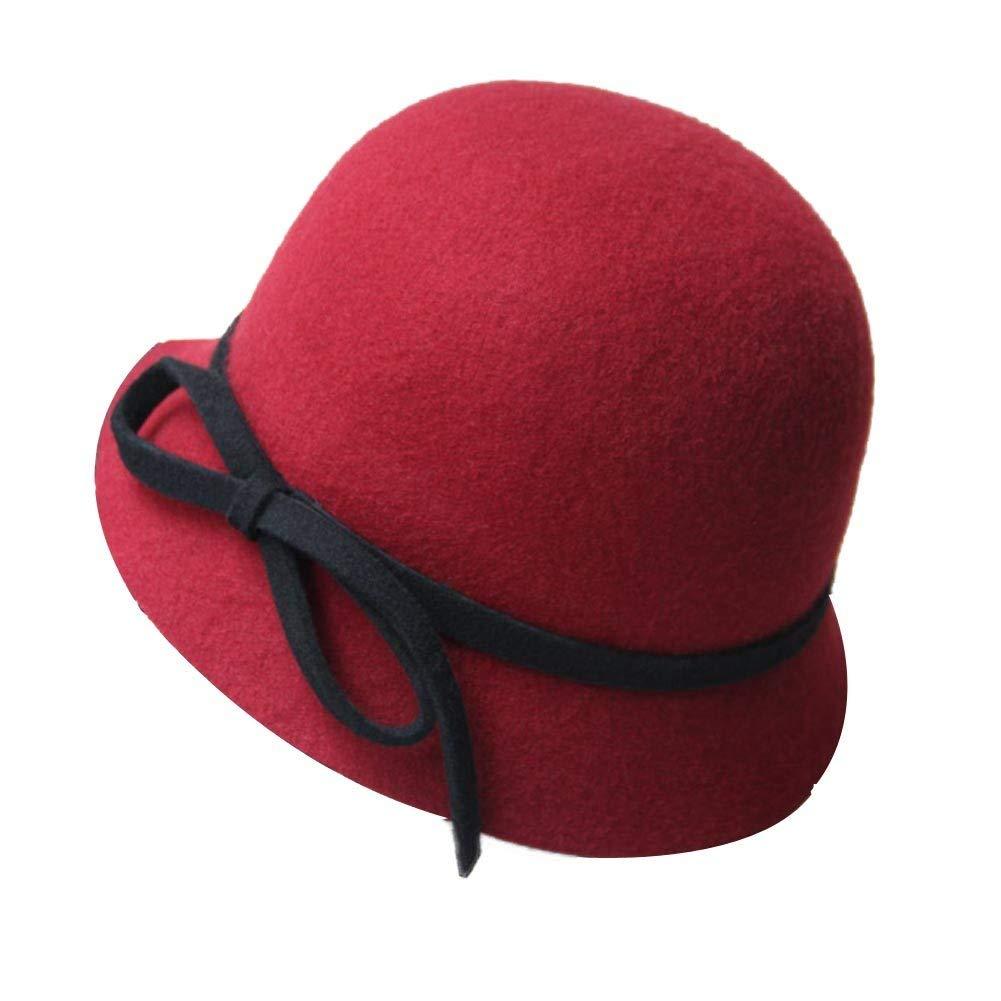 Get Quotations · PANDA SUPERSTORE Vintage Hard Felt Hat Fedora Woolen  Billycock Hat Bowler Hat Cloche 90bcabe6e07