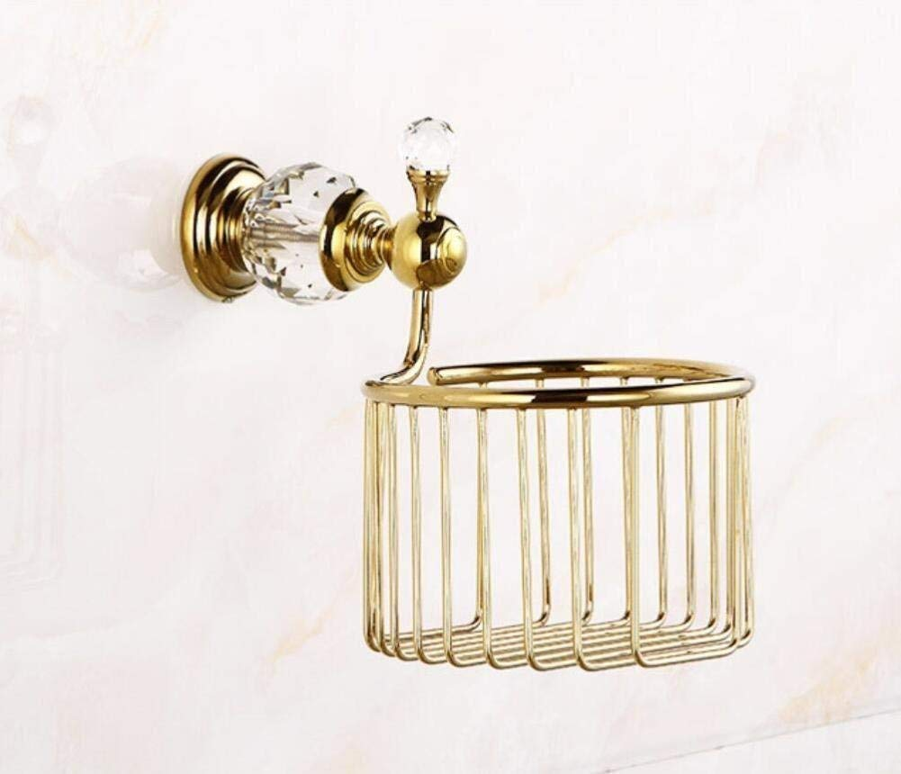 L.I. Paper Towels Retro of Shopping Cart Door-Paper, roll of Toilet Paper Paper Shelf Framework Bathroom,Gold Pendant