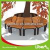 Traditional composite outdoor wooden park bench with back LE.XX.072