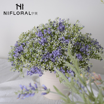 Wholesale stock plastic  Baby  breath artificial flower bouquet for home decoration