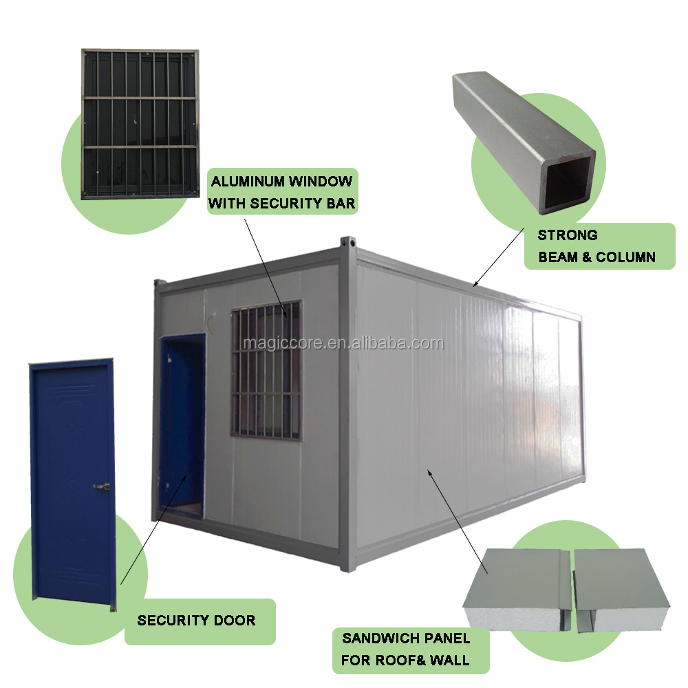 Portable 20feet 40feet modular homes container houses container for Personalized Cafe,bar,kiosk