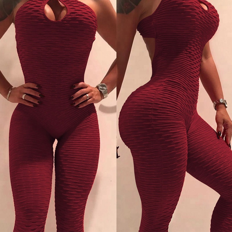 Alibaba.com / New Style Sexy Women Sporting Jacquard Fitness Jumpsuit Gym Sports Jumpsuit