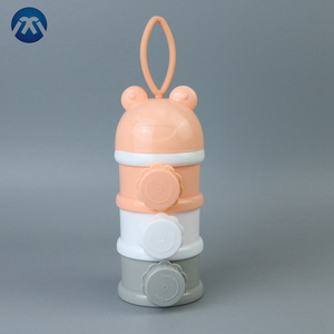Colorful Multi-functional Three-Layer Baby Milk Powder Storage Box With Plastic Bottle For Powde