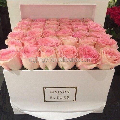 preserved flower box printed cardboard boxes for flowers. Black Bedroom Furniture Sets. Home Design Ideas