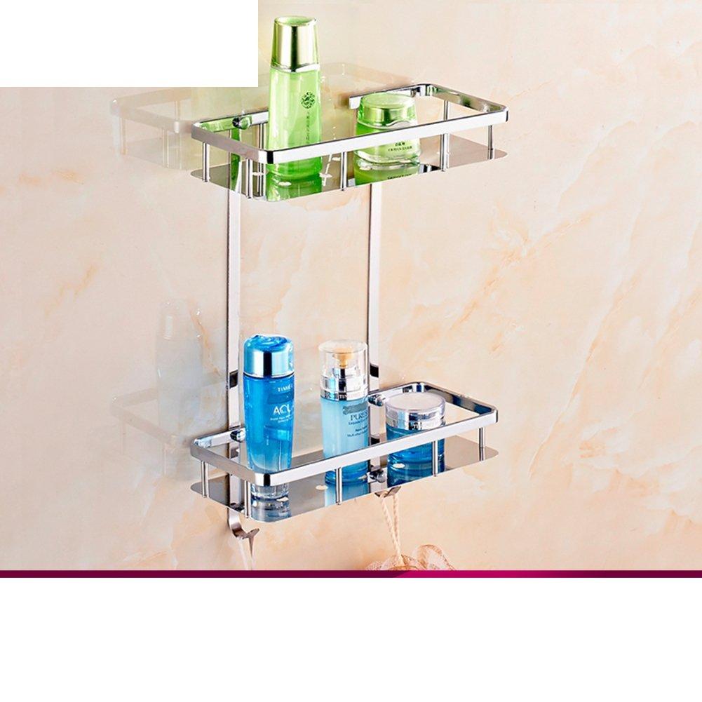 Sanitary stainless steel triangular basket/Bathroom racks/Bathroom storage baskets/ double corner rack/Toilet Tripod-B
