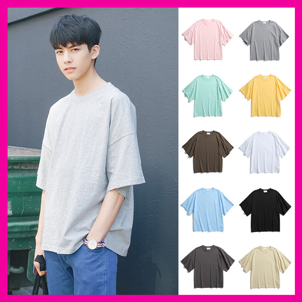 high quality men casual 100 cotton blank t shirt china wholesale