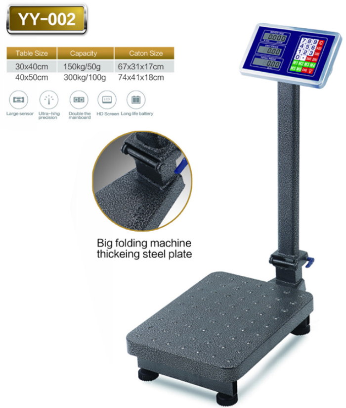 Platform Scales Industrial Scales Weighing Floor Scales Folding LED 60-300 kg