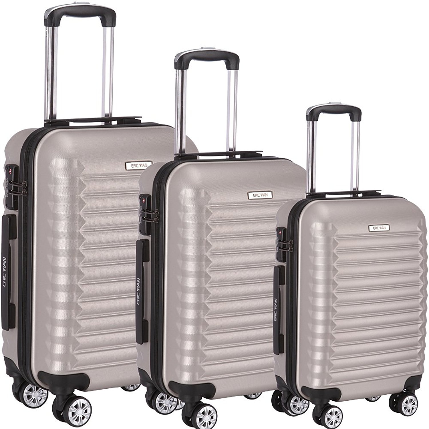 BMS 20 HardShell Luggage Travel Bag ABS Trolley Suitcase 4 Wheels Case