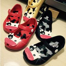 Mellissa style cow jelly kids children s summer sandals fish mouth shoe girl child scrub SED
