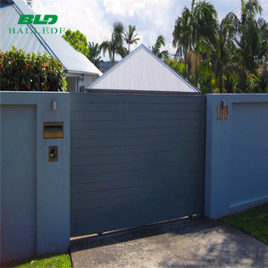aluminum electric auto sliding gate with posts