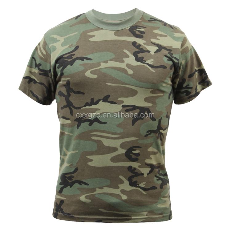 Wholesale Military Army Training Cotton Mens Camouflage T-shirt& Tshirt, Khaki;digital camo;etc.