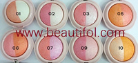Looks natural silky smooth cute blusher easy to apply and removal
