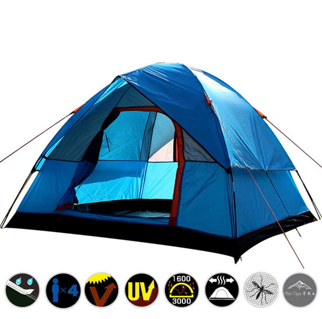 Tents Travel, Outdoor Camping, Camping, Outdoor Rainstorm 2.8KG, 3-4 People