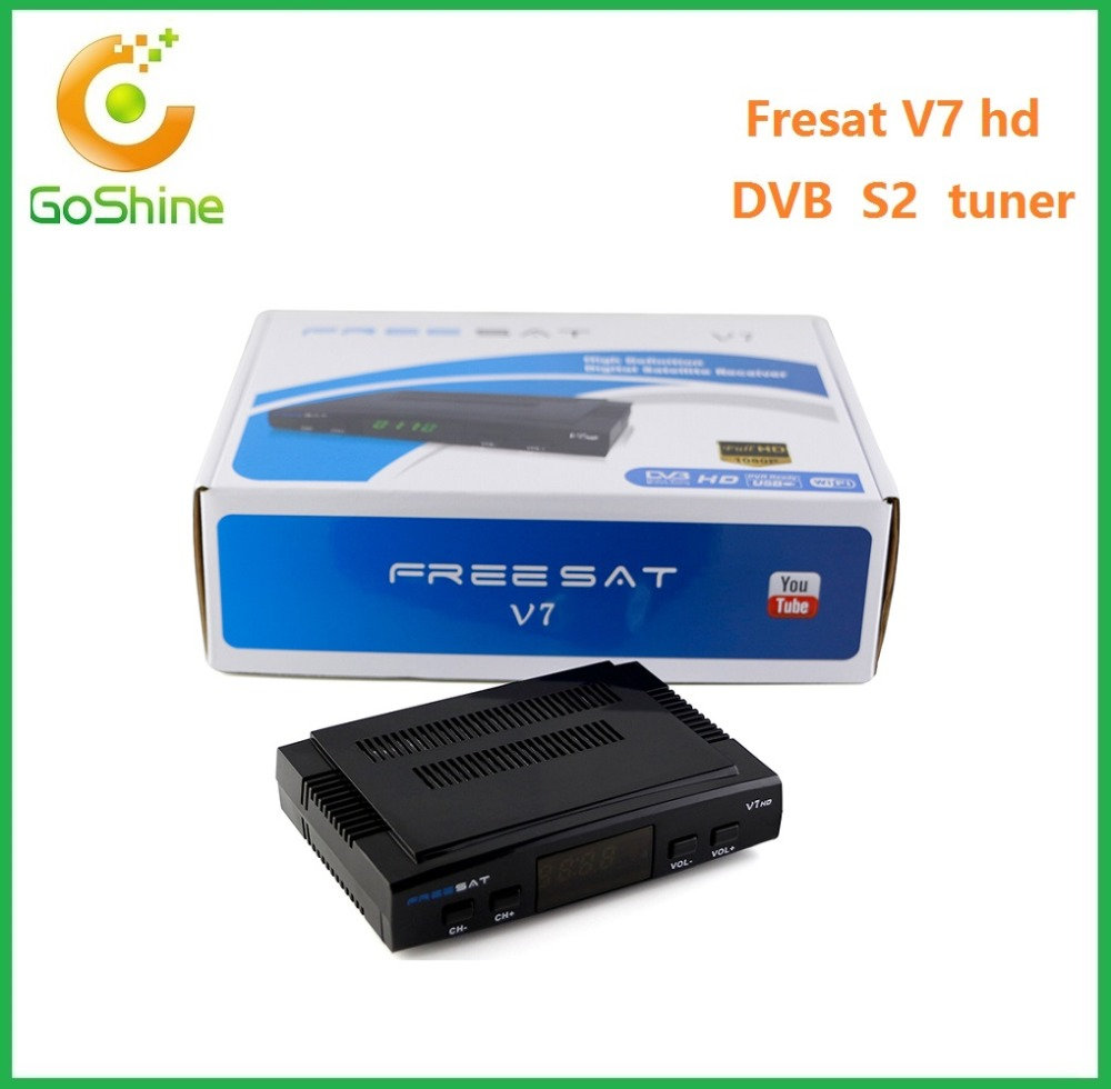 Full stock,Genuine Freesat V7 mini dvb s2 satellite receiver support EPG usb wifi Pen V7 HD Freesat decoder