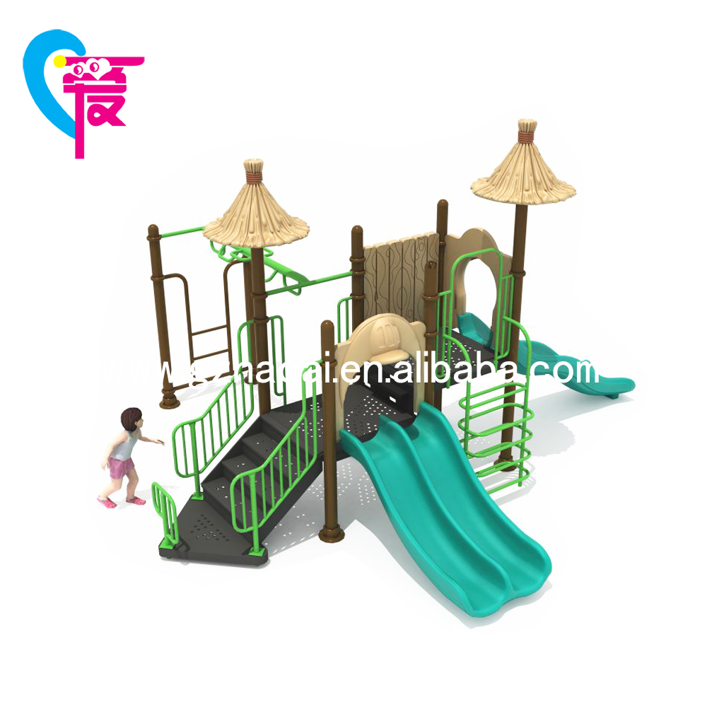 HC-10202A Children Plastic Slide Park Equipment Outdoor Playground Equipment For Sale