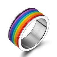 Fashion latest wedding silicone material stainless steel ring designs