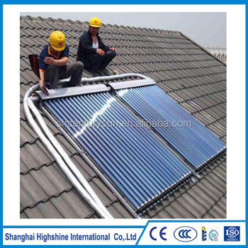 pressure high quality copper heat pipe evacuated tubes CE certificated solar collectors