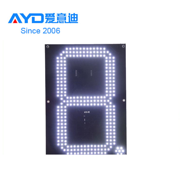 High Quality Factory Direct Full Color 12'' LED Digital Gas Price Sign/IP65 Outdoor Usage LED Fuel Price Sign