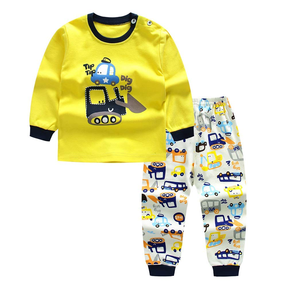 Newborn Baby Boy Clothes Pajama Sets Infant Boys Tops and Pants Set 2pcs Sleepwear for Little Boy Outfits