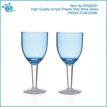 High Quality Acrylic Double Color Plastic Red Wine Glass