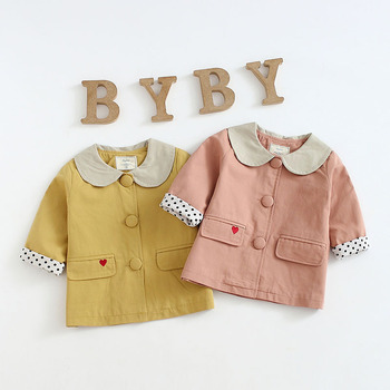 Girl  baby foreign coat child Korean style spring windbreaker Infant spring outfit